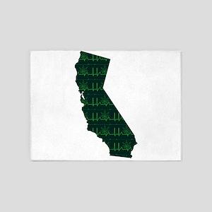 CALIFORNIA [cannabeat] 5'x7'Area Rug